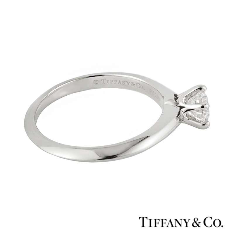 Tiffany Co Platinum Lucida 2mm Wedding Band Ring Sz 8: Tiffany Setting Ring
